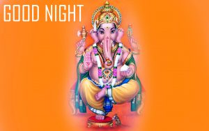 God Good Night Photo Pictures With Lord Ganesha