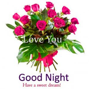 Good Night Wishes Greetings Pictures With Flower