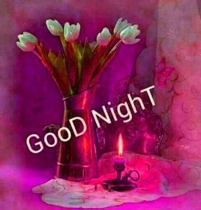 gd night images Photo Pics With Flower for Whatsapp Download