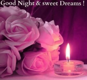 3D Good Night Images Photo With Flower