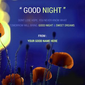 Good Night Wishes Photo Pics Images for Mobile