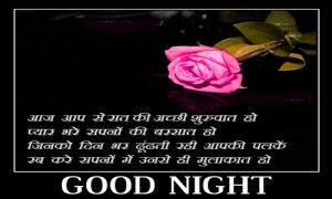 3D Good Night Images With Hindi Quotes
