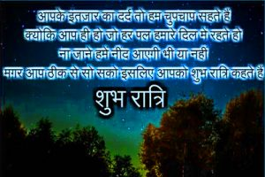 Hindi Shayari Good Night Photo Pics For Whatsaap