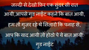 Hindi Shayari Good Night Images Wallpaper For Whatsaap