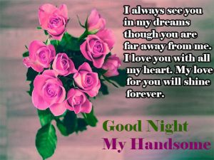 Husband Romantic Good Night Images Wallpaper Pics With Flower