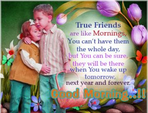Best friends Good Morning Wallpaper Download