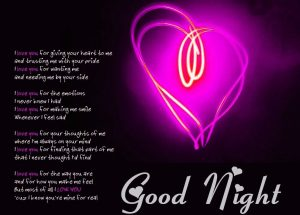 Love Good Night Images Photo HD Download
