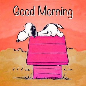 Snoopy Good Morning Images Pictures Photo Wallpaper Download