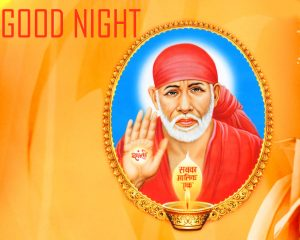 God Good Night Wallpaper With Sai Baba HD Download