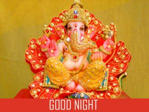 Lord Ganesha Good Night Photo Pics Images Download