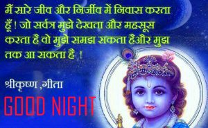 Hindi Good Night Images With God Krishna