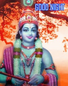 God Krishna Good Night Photo Pics Download