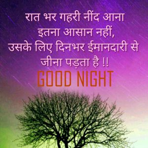 Hindi Quotes Good Night Photo Picture Free Download