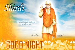Sai Baba Good Night Photo Pics Download