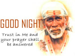 Sai Baba God Good Night Photo Pictures Download