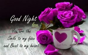 Husband Romantic Good Night Images Photo Wallpaper With Flower