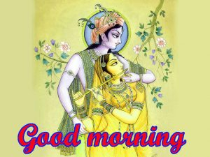 God Radha Krishna good morning