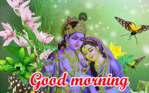God Radha Krishna good morning Wallpaper Photo Pics