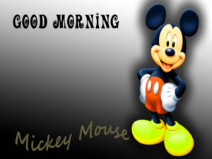 mickey mouse good morning images pics photo hd