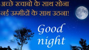 Hindi Quotes Good Night Images Wallpaper Photo Pics