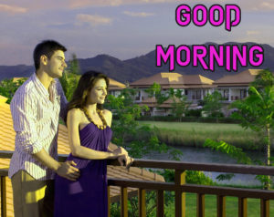 Romantic Good Morning Images photo with couple