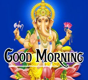 God Good Morning With Lord Ganesha
