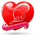 heart love red glossy symbol beautiful glossy vale vector 3784611